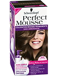 Schwarzkopf Perfect Mousse - Coloration Permanente - Châtain 500