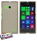 "MUZZANO Original ""Le Glossy"" Hybrid Flexible Shell Case for Nokia Lumia 735 - Grey"
