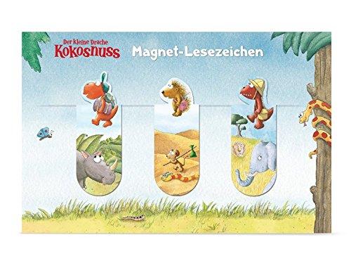 Der kleine Drache Kokosnuss - Magnet-Lesezeichen: Set 3 Stück