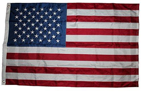 USA Fahne mit 50 gestickte Sterne und genähte Streifen, Wetterfeste Flagge, US Flag, 90x150 cm -