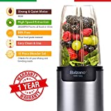 Balzano WBL-002-H 900-Watt Bullet Blender with 3 Jars (Silver)