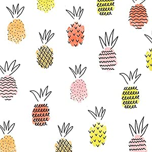 Braun & Company 1208-18262 Pineapple Mix - Servilletas (20 Unidades), Color Blanco