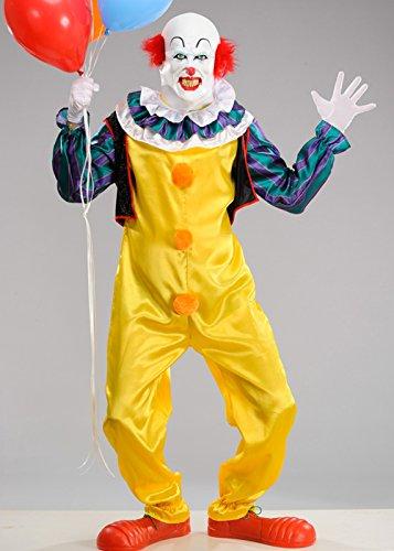 (Magic Box Int. Mens Deluxe Es Clown Pennywise Kostüm mit Maske STD. (up to a 44