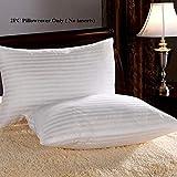 CCWB Cotton 600 TC Pillow Cover, 18 x 27 Inch, White, 2 Pieces
