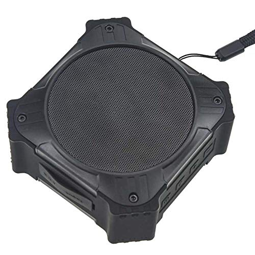 Tragbarer drahtloser Bluetooth-Autolautsprecher - Computer-Minilautsprecher - Wasserdichter Subwoofer Solar Outdoor Three - Schwarz