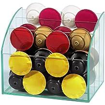 Xavax 00111068 - Organizador de cristal para cápsulas de café y accesorios