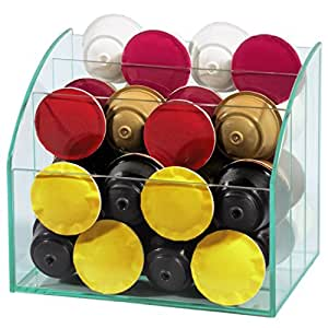 Xavax Glass Organizer for Coffee Capsules and Accessories
