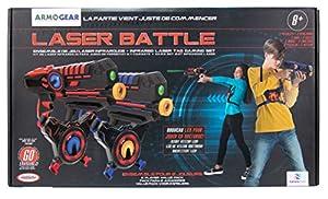 Darpeje- Batalla (Laser Battle) Set 2 Jugadores Azul | Rojo de Toys & Fun-Sycomore Faujas (ODAR77), (1)