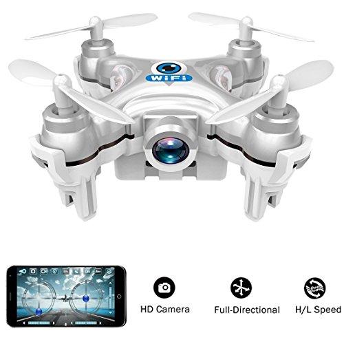 wifi gesteuert mini quadcopter, Volarvin® - Super Micro nano quadcopter rc Drohne mit Kamera 2.4G 4-Kanal-3D-Gyro 6 Achsen mit 360 Stunt-Spin-Flips (nur 6 cm x 6 cm x 2 cm) in Silber (Copter Cheerson Nano)