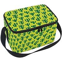 Preisvergleich für Alaza Kaktus, Isoliertasche, Kühltasche, Picknick-Tasche, Einkaufstasche, wiederverwendbar, für Reisen mit Schultergurt für Damen und Herren Erwachsene und Kinder, Aluminium, grün, 10x7x6 inches