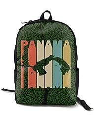 sd4r5y3hg Retro tyle Panama ilhouette Adult Men Women Uniex PC Funny tyle Backpack