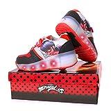 Miraculous | Ladybug Zapatillas Deportivas para Niñas | Zapatos con Ruedas | Suela Fantástica Luces LED | Diseño De Patines | EU 30 |