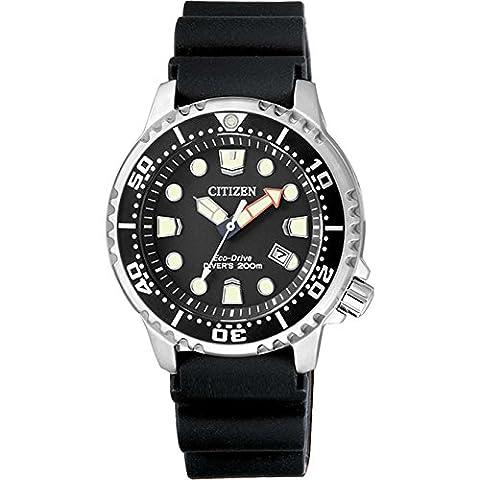 Citizen - Diver's 200MT Eco Drive Lady, POLYURÉTHANE, Femme, noir(noir), 33mm