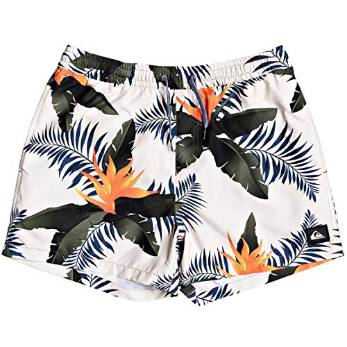 Quiksilver Herren POOLSIDER Volley 15 Swim Trunk Boardshorts, antik-weiß, Medium