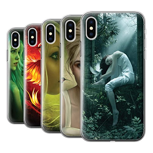 Offiziell Elena Dudina Hülle / Gel TPU Case für Apple iPhone X/10 / Schöne Pfau Muster / Die Vögel Kollektion Pack 18pcs
