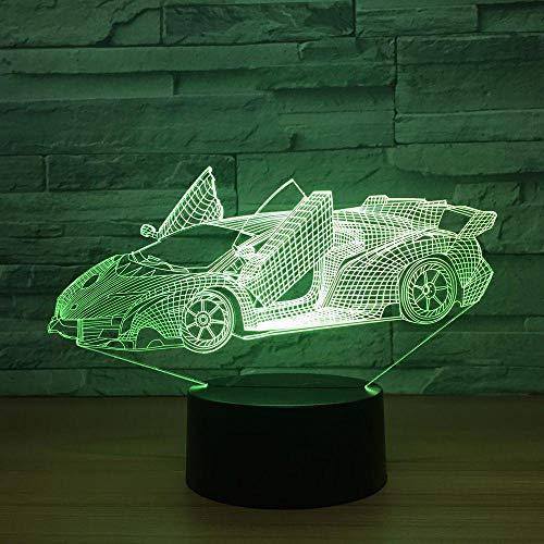Illusions-Licht 3D LED, 7 Farben-Sport-Auto-Licht, optische Nachtlichter, Tischlampen-Atmosphären-Dekoration, Kindergeburtstags-Geschenke