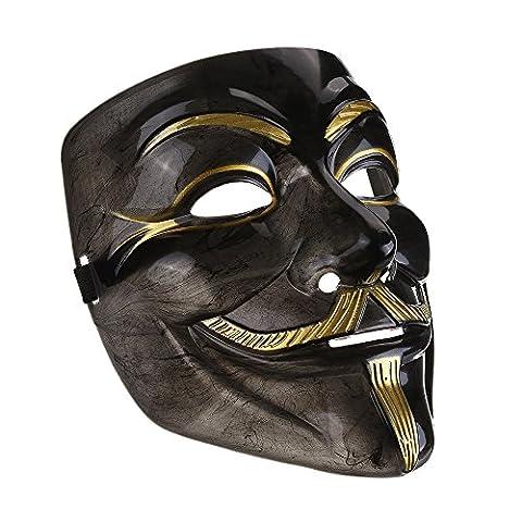 Maske Loveso Mask Anonymous Vendetta V For Vendetta Masquerade Halloween Fancy Party (Schwarz) (Vampir Kostüm Diy)