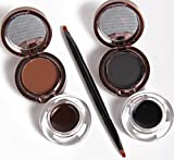 ADS Long Lasting/Waterproof Eyebrow Powder & Eyebrow Gel 3g+4g Black and Brown