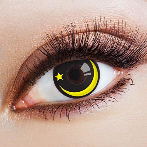 Schwarze Kontaktlinsen Halloween Jahreslinsen farbig Cosplay Kostüm Accessoires