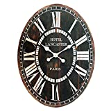 Vip Orologio da parete hotel Lancaster Paris MJ818458,4cm in legno ovale, grande