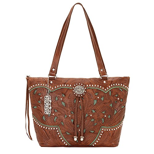 american-west-collection-marrone-antique-brown-turquoise-taglia-unica