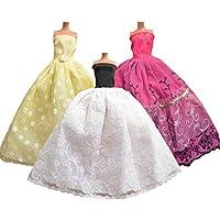 AllDollModa ADM 1003 - Vestidos de novias: Cinderella (Set de 3, sin muñecas