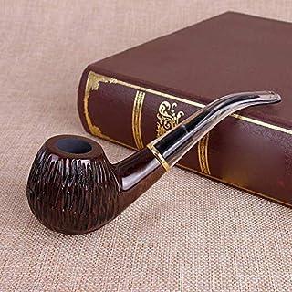 LZY Holz Gerade Rohr, Ebenholz Vintage-Rohr, Filterrohr, Hand Poliert, Briar Gebogenes Rohr,D,Rohr