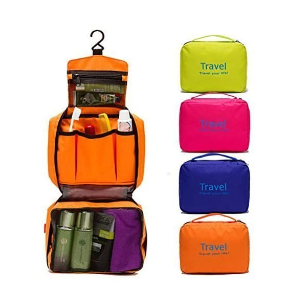 Deziredeal Polyester Toiletry Bags (Multicolored_KT-72 MULTI)