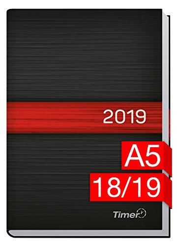 Chäff-Timer Classic A5 Kalender 2018/2019 [schwarz-rot] 18 Monate Juli 2018-Dezember 2019 - Terminkalender mit Wochenplaner - Organizer - Wochenkalender