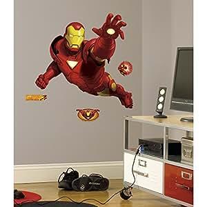 ... RoomMates RMK1486GM Iron Man Peel U0026 Stick Giant Wall Decal Part 89