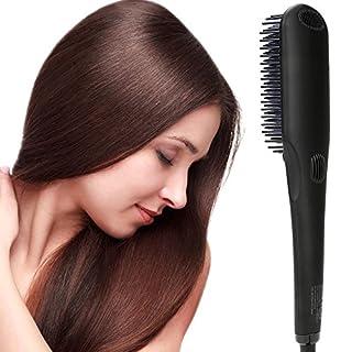 Haarglätter Bürste, Ionischer MCH Keramische Heizung Glättbürste, LCD Anzeige   einstellbare Temperatur Haarglättung Bürste, Anti Verbrühen   Auto abgeschaltet Tragbare Glättungbürste