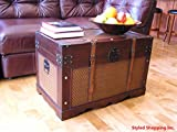 Styled Shopping Boston Holz Brust Dampfgarer Trunk Large Trunk Only