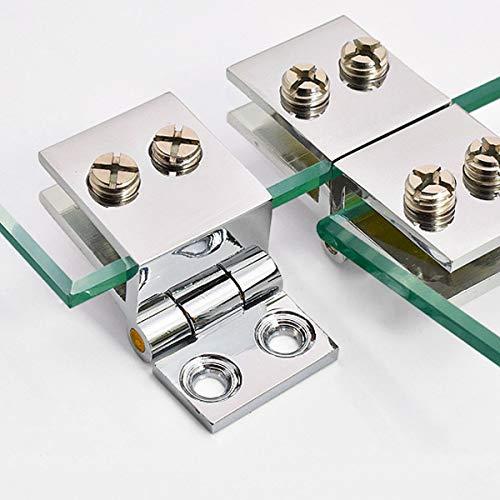 51pdBLSdcpL - SurePromise - Juego de bisagras para puerta de cristal (4 unidades, 5 mm-8 mm, rectángulo, ajustables)