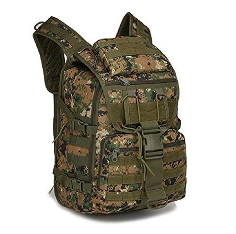 ZC&J 36-55L capacité de camouflage en plein air double épaule tactique d'assaut tactique, Oxford sac imperméable à l'épreuve de l'escalade en randonnée, sac à dos réglable,A,36-55L