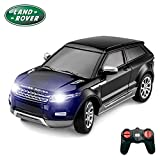 PTL® Range Rover Evoque RC Car, Working Lights, PL620 1:24 Licensed Electric Radio Controlled Land Rover Evoque Remote Control Car for Kids, Top Popular Best Boys Girls Car Kids Toys, RTR 27Mhz Black