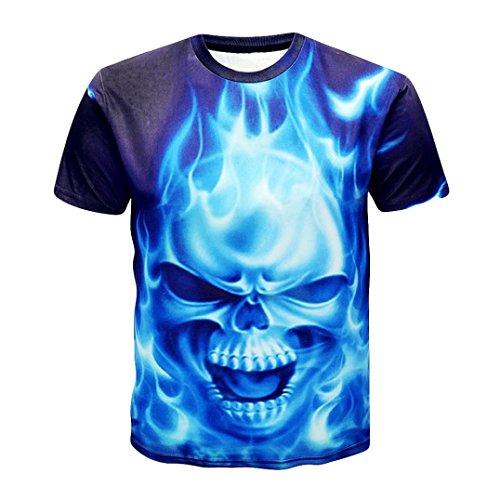 Eminem Mädchen Für T-shirt (Kanpola T-Shirt Herren Schwarz Adler Totenkopf 3D Print O-Neck Slim Fit Deutschland T-Shirts Shirts Tops)