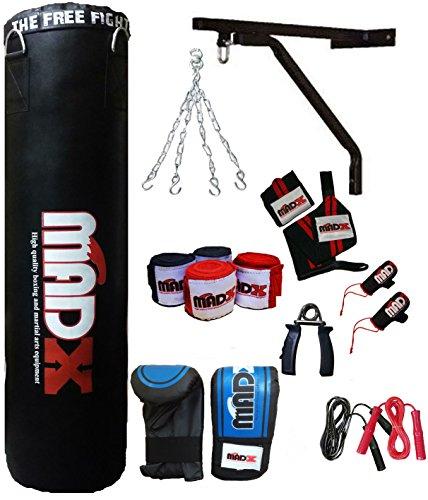 MADX 13piezas 4ft Juego de boxeo con saco de boxeo, guantes, caden