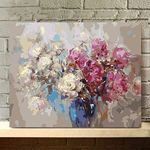 """Painting-YC DIY Malen nach Zahlen für Erwachsene Kinder Blume 16×20\"""" Rahmenlos Haus Dekoration"""