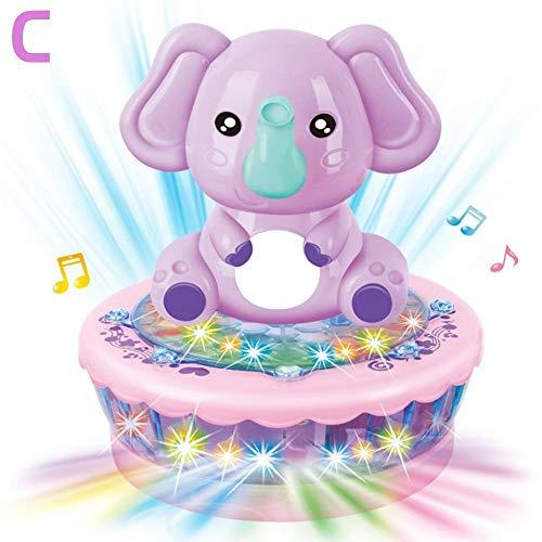 Baby-Nachtprojektor-Wiegenlied-Traumshow-musikalisches Licht Cot Spielzeug, Cartoon-Projektor-Nachtlicht mit beruhigender Natur-Musik für Kindergeburtstags-Weihnachtsgeschenke