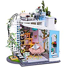 symboat casa de bricolaje juguete conjunto caseta de madera 3d Puzzle Cottage juguetes assemblés decoración de