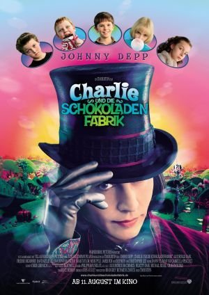 Johnny Depp Film-poster (CHARLIE AND THE CHOCOLATE FACTORY - Johnny Depp - German Imported Movie Wall Poster Print - 30CM X 43CM Brand New)