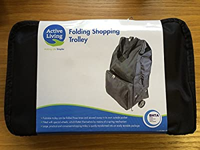 Mobility Aid - Large Practical Light Weight Carry Folding Shopping Travel Trolley with wheels
