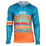 Forever Collectibles NFL Miami Dolphins Super Bowl VII Champions Hoody Tee, XX-Large