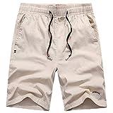 CYYCY Sommer Herren Shorts Bodybuilding Mode lässig fitnessstudio joggen Training Strand Shorts,Sporthose aus Baumwolle und Leinen 3 M