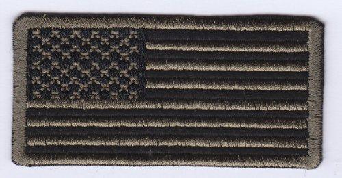 USA Military-Stil, Army Camouflage Flagge Bügelbild Aufnäher Applikation Patch Aufbügler bestickt Motiv (Flagge Camouflage)
