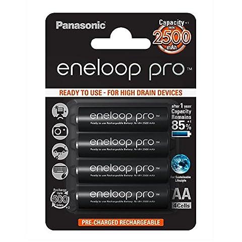 Panasonic Eneloop Pro AA 2500mAh Eneloop NiMH Ready to Use