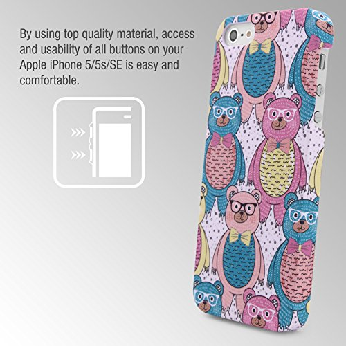 iPhone 5 / 5s / SE Coque, Urcover Étui Mandala PC Rigide [Motiv Big Flower] Téléphone Smartphone Apple iPhone 5 / 5s / SE Housse Antichoc Case Colorful Bear