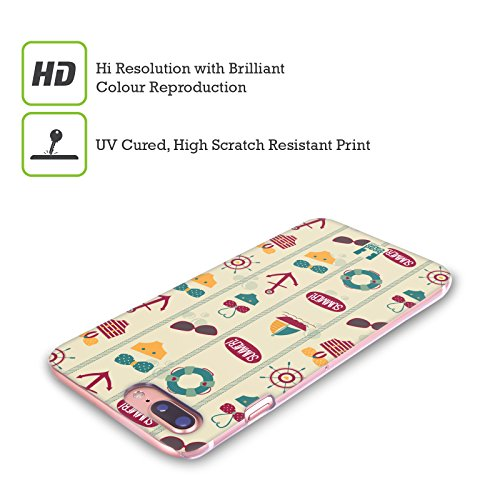Head Case Designs Rosa E Verde Estate Nautica Cover Retro Rigida per Apple iPhone X Giallo E Rosso