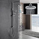Auralum® Duschsystem Duscharmatur Set Duschkopf Handbrause Regendusche Rainshower Dusche