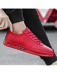 NANXIEHO Zapatillas de Deporte Otoño e Invierno Trend Hombre Zapatillas de Ocio Hip Hop Rojo Moda
